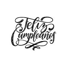 Vector A Feliz Cumpleanos Diseño De Letras Traducido Del
