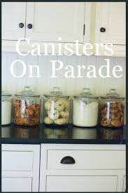 i try keep my kitchen counters clutter free but who can resist keeping canisters out in plain sight especially when they are glass and full of really