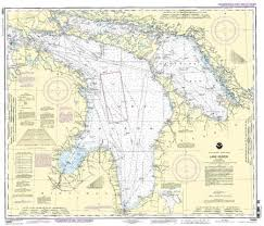 Great Lakes Navigation Charts Lake Huron Nautical Map Cartography Lake Huron Nautical