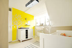 area rug white floor ideas baby boy nursery babys room bright yellow changing table wall decal natural wood