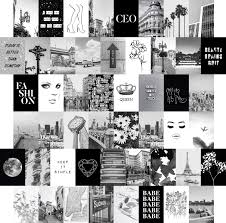 If there's one thing the '90s brought to bedrooms it was colour. Amazon Com Black White Wall Collage Kit Aesthetic Pictures 50 Set 4x6 City Chic Wall Decor For Teen Girls Wall Art Prints College Dorm Room Decor Photo Collection Posters Prints