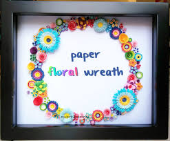 Diy Paper Flower Wreath Diy Paper Floral Wreath 7 Steps With Pictures
