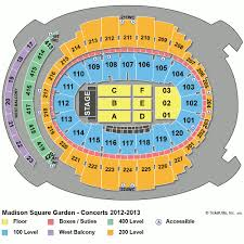 Msg Seating Chart Concert With Rows Seating Chart Madison Square Garden Manhattan New York