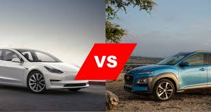 Autouncle.de has been visited by 10k+ users in the past month Virtual Showdown Tesla Model 3 Versus Hyundai Kona Electric
