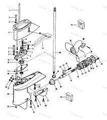 Mercury chrysler outboard parts by hp model 7 5hp oem parts diagram for gear housing boats