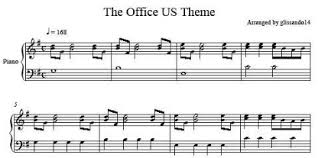 The Office Us Theme Sheet Music Glissando14s Homepage