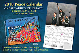 2018 Peace Calendar Sale Syracuse Cultural Workers