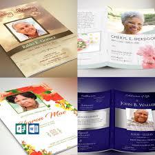 Funeral Program Template Bundle Word Publisher Best