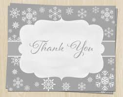 snowflake thank you cards bridal shower thank you cards wedding dress gown black