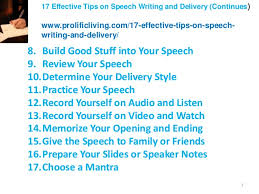 effective tips on speech writing and delivery  speech 2 3