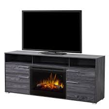 dimplex sander tv stand with electric fireplace with logs carbon finish gds25l51686cw