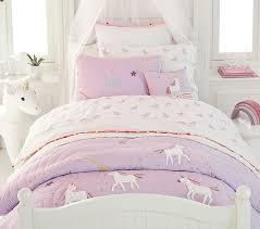 organic unicorn rainbow kids sheet set