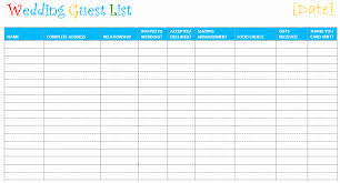 Excel Guest List 50 Wedding Guest List Template Excel Modern Template Master