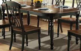 black dining room set with bench. Black And Brown Dining Room Sets Cool Decor Inspiration Classic Table Dark Chair Oval Small Flowers Plates Glass Water Set With Bench