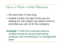 opening objective for resume job objective career summary