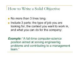 Objective Summary For Resumes Job Objective Career Summary