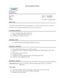 Resume Resume For Freshers Software Engineers Fresher Format