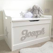 white toy chest. Delighful Chest Personalised White Toy Box  To Chest