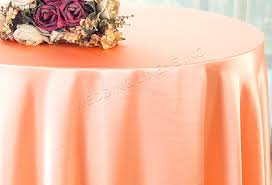 90 round satin tablecloth apricot peach 55531 1pc pk