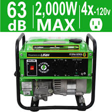 lifan generators outdoor power equipment energy storm 2 000 watt 98cc 3 mhp gasoline powered portable generator