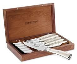 wusthof classic ikon steak knives. Brilliant Classic Wusthof Classic Ikon Creme 6piece Steak Knife Set With Walnut Case Intended Knives V
