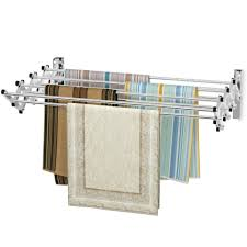 wall mounted expandable clothes drying