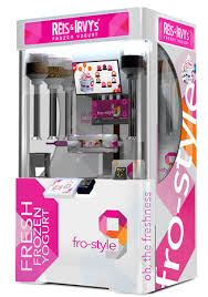 Froyo Vending Machine Cost New Robofusion Interactive Robotic Kiosks