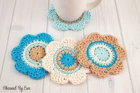 Free Crochet Patterns For Scrubbies Stunning Free Crochet Pattern Cotton Flower Coasters Charmed By Ewe