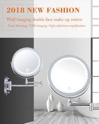 Wholesale Bathroom 10x Magnification Double Side Led Lighted Wall Mounted Makeup Mirror Buy Wall Mounted Makeup Mirror Bathroom Makeup Mirror Makeup