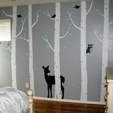 forest wall decals birch tree wall decals birch tree woodland forest wall decal set would love forest wall decals