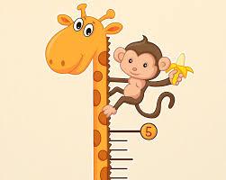 Kids Giraffe Growth Chart Wall Decal Stickerwhale Com