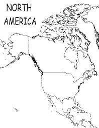 North America Map Coloring Page Coloring North Map Coloring Page