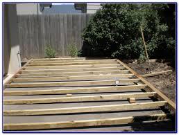 Build A Concrete Patio Build A Deck Over A Concrete Patio How To Build A Deck Over A