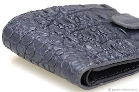 grey crocodile leather wallet good gift for husband