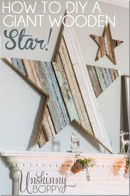 how to diy a giant wooden star for the mantel