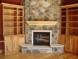Image of: corner stone fireplace designs