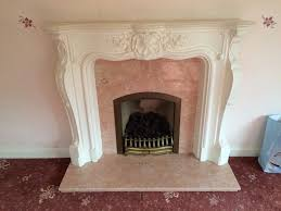period real marble and plaster cast fire place surround