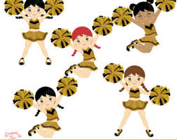 Image result for black and gold cheerleaders