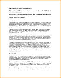 memorandum of agreement template assistant cover letter 5 memorandum of agreement template