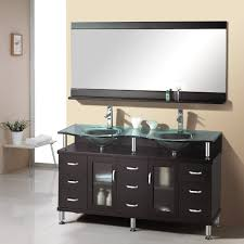 contemporary bathroom furniture. Amusing Design Of The Contemporary Bathroom Vanities With Black Wooden Cabinets And Double Sink Ideas Furniture