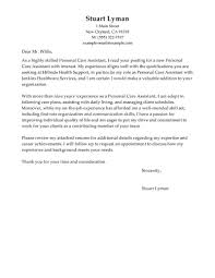 Personal Assistant Cover Letter Sample The Letter Sample