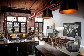 urban loft northern home furniture. View In Gallery Industrial Kitchen And Living Area Of Loft With Exposed Brick Walls Urban Northern Home Furniture D