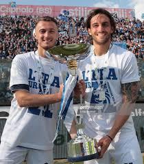 Alfredo Donnarumma and Ernesto Torregrossa of Brescia Calcio ...
