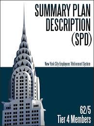 Tier 4 62 5 Summary Plan Description Spd New York City