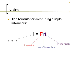Release Of Interest Form Fascinating Computing Simple Interest Mr Swaner Notes The Formula For Computing