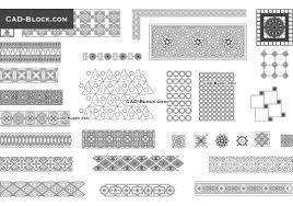 arabic decorative patterns cad blocks autocad file