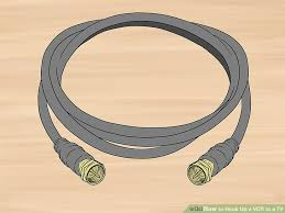how to hook up a vcr to a tv pictures wikihow image titled hook up a vcr to a tv step 2