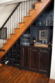 Best  Bar Under Stairs Ideas On Pinterest - Unfinished basement stairs