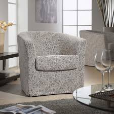 vale furnishers bounce swivel tub chair in fabric