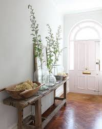Console Decor Ideas Rustic Decor Console Table And Glass Vases And Mirror I Entryway